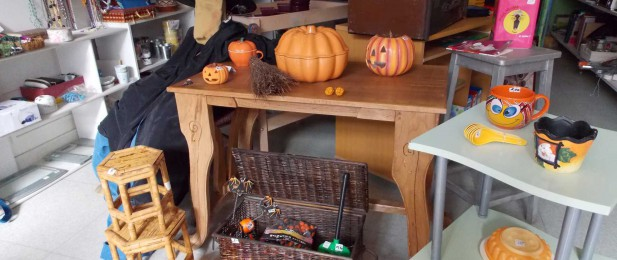 Entrée de la boutique façon Halloween